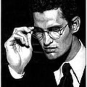 Pensive Man With Glasses Art Print