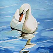 Pensive Swan Art Print