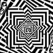 Penta Spheres Maze  Art Print
