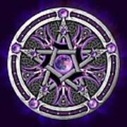 Pentacle Of The Purple Moon Art Print
