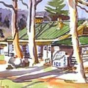 Penuel Lodge In Winter  Art Print