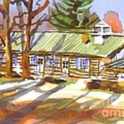 Penuel Lodge In Winter Sunlight Art Print