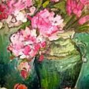 Peonies And Peaches Art Print
