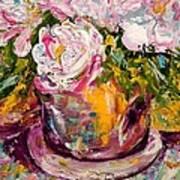 Peonies Art Print by Barbara Pirkle