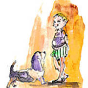 People And Their Dogs 01 Art Print