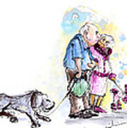 People And Their Dogs 02 Art Print
