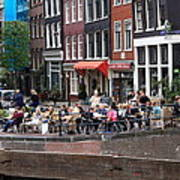 People By The Canal Art Print