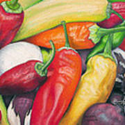 Peppers And Onions Art Print