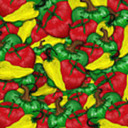 Peppers And Tomatos Art Print
