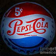Pepsi Cap Sign Art Print