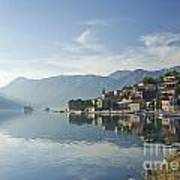 Perast Village In The Bay Of Kotor In Montenegro  Art Print