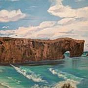 Perce Rock Gaspe  Quebec Art Print