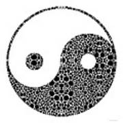 Perfect Balance 1 - Yin And Yang Stone Rock'd Art By Sharon Cummings Art Print