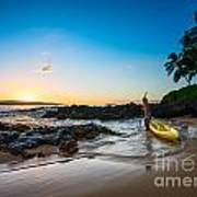 Perfect Ending - Beautiful And Secluded Secret Beach In Maui Art Print