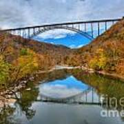 Perfect Reflections Of The New River Gorge Bridge Art Print