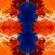 Perfectly Balanced Philosophies Abstract Pattern Art By Omaste Witkowski Art Print