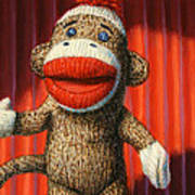 Performing Sock Monkey Art Print