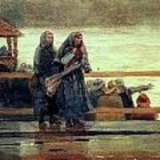Perils Of The Sea 1881 Art Print