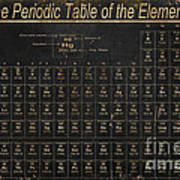 Periodic Table Of The Elements Art Print by Grace Pullen