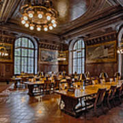 Periodical Room At The New York Public Library Art Print