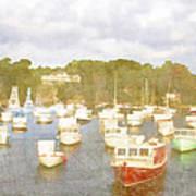 Perkins Cove Lobster Boats Maine Art Print