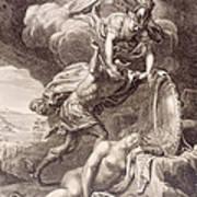 Perseus Cuts Off Medusa's Head Art Print by Bernard Picart