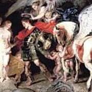 Perseus Liberating Andromeda Art Print