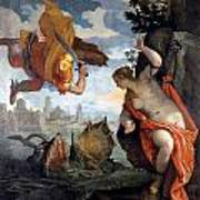 Perseus Rescuing Andromeda Art Print