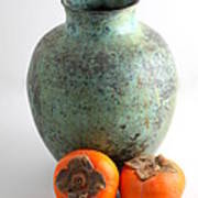 Persimmon With Vase Art Print