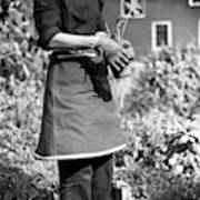 Person Wearing A Gardening Apron Art Print