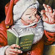 Personalized Santa Painting....instructions Are On Lower Right Side Of This Page. Art Print