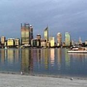 Perth By Sunset  Art Print