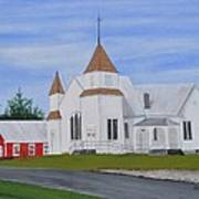 Peru Congregational Church Art Print