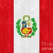Peru Flag Art Print