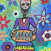 Pescadora Dia De Los Muertos Art Print