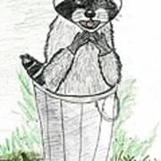 Pesky Raccoon Art Print