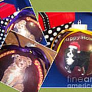 Pet Christmas Tree Ornaments Art Print
