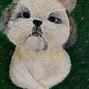 Pet Dog Art Print by Kat Poon