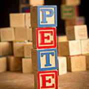 Pete - Alphabet Blocks Art Print