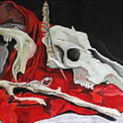 Pete The Skull Art Print by Kip Krause