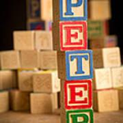 Peter - Alphabet Blocks Art Print