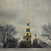 Peter And Paul Fortress Art Print by Elena Nosyreva