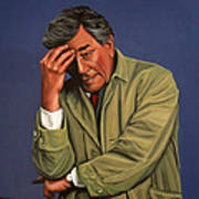Peter Falk As Columbo Art Print by Paul Meijering