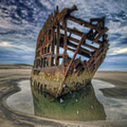 Peter Iredale At Dawn Art Print