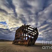 Peter Iredale Shipwreck Sunrise Art Print