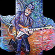 Peter Parcek Plays The Blues Art Print