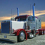 Peterbilt At The Beach  Art Print