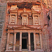 Petra Treasury Art Print by Tony Beck