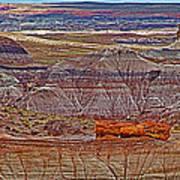 Petrified Log On Overlook Near Blue Mesa In Petrified Forest National Park-arizona   Art Print