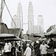 Petronas Over Kampung Baru Art Print